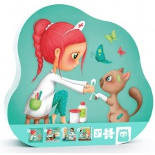 Детски пъзел 4 в 1 Еurekakids - Ветеринар, с различни нива на трудност -1