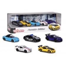 Детски комплект Majorette - 5 метални колички Porsche -1