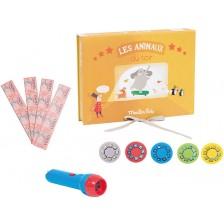 Детска играчка Moulin Roty - Кутия за приказки с животни -1