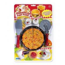 Детска играчка RS Toys - Пица, с аксесоари -1