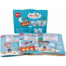 Детска чантичка с 3 занимателни книжки Apli - Пирати -1
