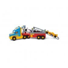Детска играчка - Камион с рампа и състезателни коли -Ф1 -1