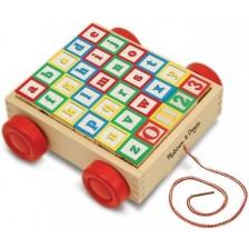 Детска играчка за дърпане Melissa & Doug - Конструктор ABC-123 -1