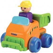 Детска играчка Tomy Toomies - Трактор, Push & Go Truck -1
