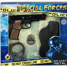 Детски комплект Gonher - Полиция -1