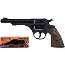 Детска играчка Gonher - Каубойски револвер, черен -1
