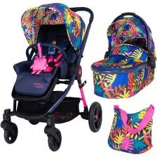 Детска комбинирана количка 2 в 1 Cosatto - Wowee, Club Tropicana -1