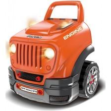 Детски интерактивен автомобил Buba - Motor Sport, оранжев -1