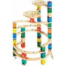 Детска дървена игра Hape - Циклон за топчета -1