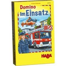 Детско домино Haba - Полиция, бърза помощ и пожарна в действие -1