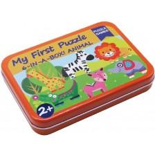 Детски пъзел Andreu toys - Джунгла, 6 броя в кутия -1