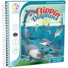 Детска магнитна игра Smart Games - Flippin Dolphins -1