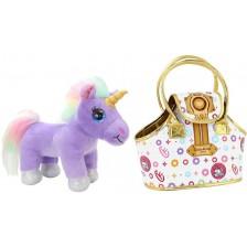 Детска играчка Funville CuteKins - Еднорог в чанта Lou Lou -1