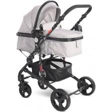 Детска комбинирана количка Lorelli - Alba Classic, Grey -1