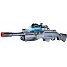 Детска пушка-помпа Villa Giocattoli - Еърсофт V-861, с фенерче -1