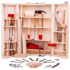 Детска дървена кутия с инструменти Bigjigs -1