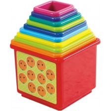 Детски кубчета  PlayGo - Пирамида, 10 броя -1