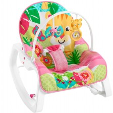 Детско столче и шезлонг 2 в 1  Fisher Price - Forest Fun, вибриращо -1