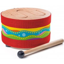 Детски дървен барабан Woody -1