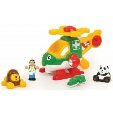 Детска играчка WOW Toys - Спасителен хеликоптер за животни -1