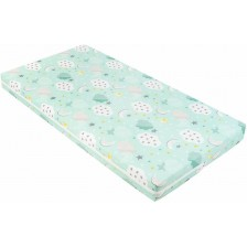 Детски матрак Kikka Boo - Fantasia Plus, 60 x 120 x 8 cm, Clouds Mint -1