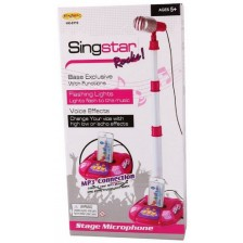 Детски микрофон със стойка Ocie - Singstar, с MP3, асортимент -1