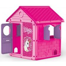 Детска градинска къща Dolu - Unicorn, розова -1