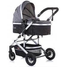 Детска комбинирана количка Chipolino - Естел, сива -1