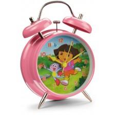 Детски будилник Nickelodeon - Дора изследователката, Ø 10cm -1