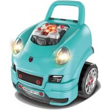Детски интерактивен автомобил Buba - Motor Sport, син -1