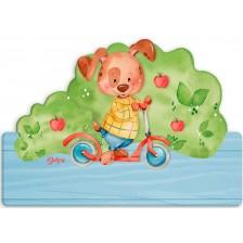 Детска дървена табела Haba - Кученце, име с български букви