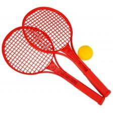 Детски комплект за тенис Simba Toys - Хилки и топка, асортимент -1
