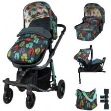 Детска количка с аксесоари Cosatto Giggle Quad - Hare Wood -1