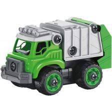 Детска играчка Buki - Боклукчийски камион с радиоуправление и отвертка -1