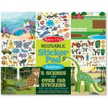 Детски стикери Melissa & Doug - Местообитания на животни -1