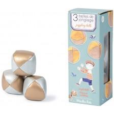 Детска играчка Moulin Roty - Комплект топки за жонглиране -1