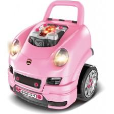 Детски интерактивен автомобил Buba - Motor Sport, розов -1