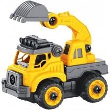Детска играчка Buki - Камион с радиоуправление и отвертка -1