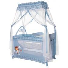 Детска кошара Lorelli Magic Sleep - Adventure, синя -1