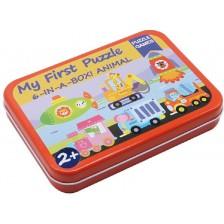 Детски пъзел Andreu toys - Превозни средства, 6 броя в кутия -1