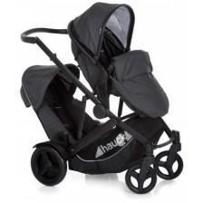 Детска количка за близнаци Hauck - Duett 3, с дъждобрани -1