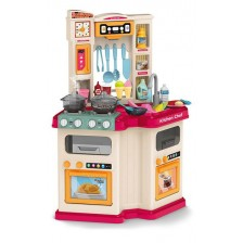 Детска кухня Ocie Little chef - С пара и течаща вода, розова -1