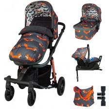 Детска количка с аксесоари Cosatto Giggle Quad - Charcoal Mister Fox -1