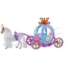 Детска играчка Ocie - Каляска за кукли с кон -1