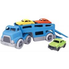 Детска играчка Green Toys - Автовоз, с 3 колички -1