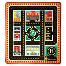 Детско килимче за игра Melissa & Doug  - Около града -1