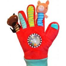 Детска ръкавица за игра Eurekakids, с кукли -1