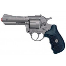 Детска играчка Gonher - Полицейски револвер с капси -1
