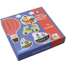 Детски пъзел Andreu toys - Трафик, 23 броя -1