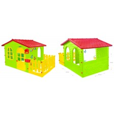Детска къщичка Mochtoys - С ограда и дъска за рисуване -1